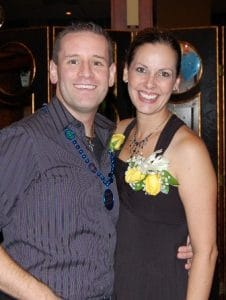 My husband and me at our 40th birthday party.